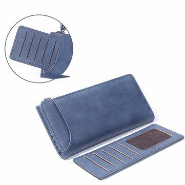 Women Retro Hasp Long Wallet Detachable Card Holder Coin Bags 5.5'' Phone Purse Iphone 7Plus