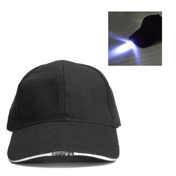 Bicicletta regolabile 5 LED cappello da baseball esterno alimentato berretto batteria berretto luce
