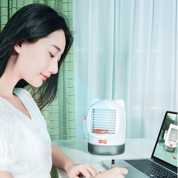 Buy Mini Air Cooler USB Charging Small Fan Desktop Air Conditioning Fan with 5 on Gipsybee.com