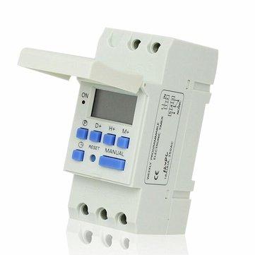 THC 15A 7 일간의 디지털 LCD 주간 프로그래머블 타이머 AC 12V 24V 110V 220V 시간 릴레이 스위치