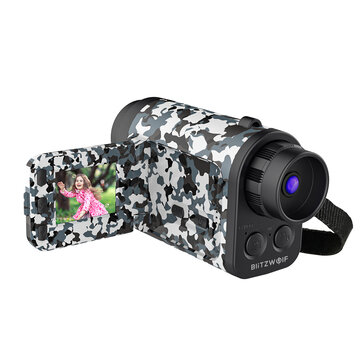 BlitzWolf BW-KC3 Monocular Telescope Camera 60X Zoom 1500m Telescope Vision Remote Audio Input for Far-sighted Video Recording and Photo Shooting Children Gifts