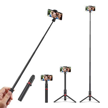 Blitzwolf BW BS10 Plus Multifunctional 1300mm Super long Length Selfie Stick Triop with 360 Phone Clamp and Retractable Remote