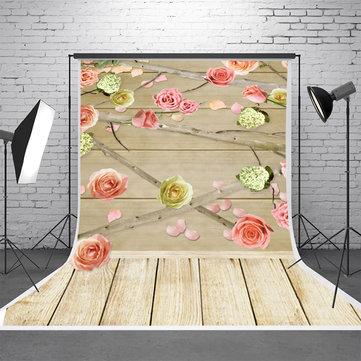 5x7FT Vinyl Wood Wall Floor Studio Prop Scenery Background Art Photo Background Backdrop