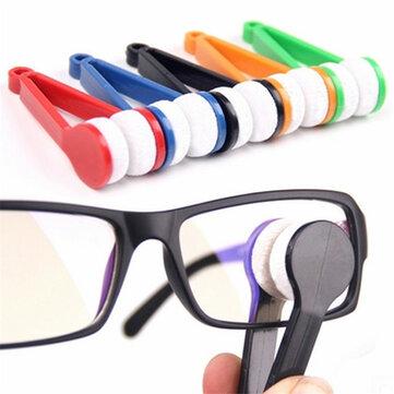 Microfiber Mini Sun Glass Eyeglass Clean Brush Cleaner Công cụ làm sạch kính