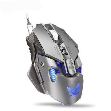 Zerodate X300GY Mechanical Macros Define Gaming Mouse 250-4000 DPI 7 Keys USB Wired Optical Mouse