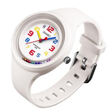 SKMEI 1386 Sportowy styl dzieci Zegarek 5ATM Wodoodporny pasek silikonowy zegarek kwarcowy