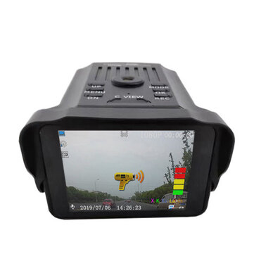 VG2 Driving Recorder 2-In-1 HD 1080P English Russian Radar Car Speedometer Mobile Radar DVR Camera