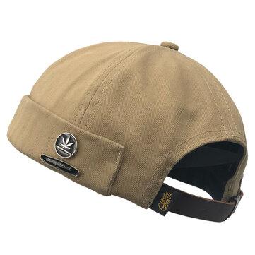 メンズレトロコットン調節可能な無毛の帽子アウトドアSkullcapセーラーキャップ