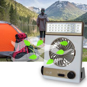 SUBUTE Fan Solar Camping Light LED Lamp Flashlight USB Charging Mini Portable Outdoors Camp Travel