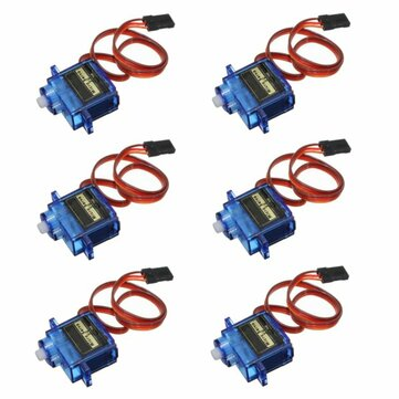 6PCS SG90 Mini Analog Gear Micro Servo 9g For RC Airplane Helicopter