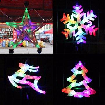 110v 220v Christmas Tree Elk Snowflake Star Decorative Led Colorful Light Home Window Decoration