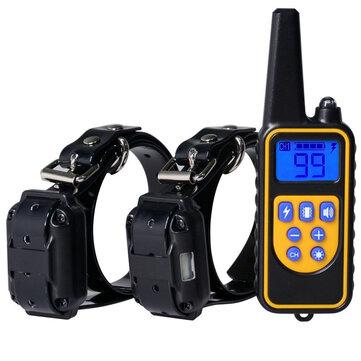 Control remoto Perro Collar de entrenamiento 1000 yardas Control remoto Collar de entrenamiento de choque estático para 2 perros