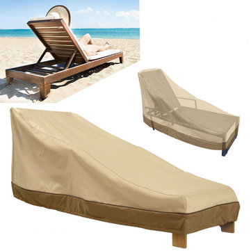 Heavy Duty Outdoor Furniture Waterproof Cover Garden Patio Yard Chaise Lounge Dust Rain Shelter Protector