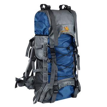 60L Outdoor Trekking Backpack Waterproof Nylon Travel Bag Camping Bag