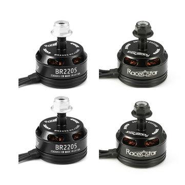 4X Racerstar Racing Edition 2205 BR2205 2300KV 2-4S  Sans Balais Moteur Noir pour 210 X220 250 280 Drone RC