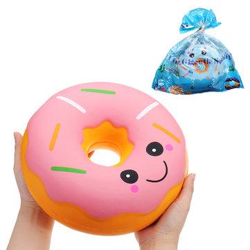 SanQi एलन विशाल डोनट Squishy जंबो 25 * 25 * 10 सेमी Soft पैकेजिंग संग्रह उपहार सजावट विशाल खिलौना के साथ धीमी गति से