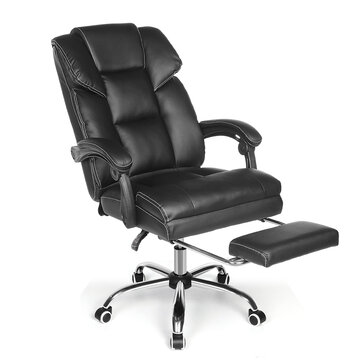 [shipping-free]BlitzWolf® BW-OC1 Office Chair Ergonomic Design with 150°Reclining Wide Seat Retractable Footrest PU Material Lumbar Pillow