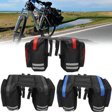BIKIGHT 600D 20L Cycling Bike Luggage Bag Bicycle Rear Rack Seat Saddle Bag Cycling Pannier Waterproof