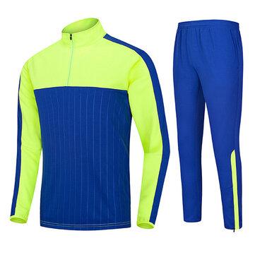 आउटडोर खेल फुटबॉल प्रशिक्षण सूट आरामदायक आधा जिपर पुरुषों लंबी आस्तीन Sportswears सूट