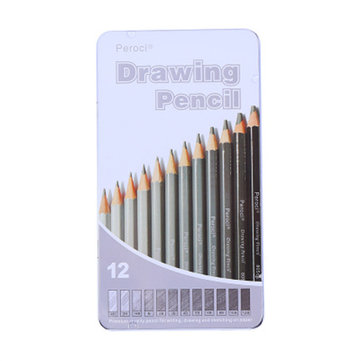 $6.29 for 12 Pcs Drawing Sketching Pencil Set Artist's Drawing Pencils Set for School Stationery Sketch Painting Carbon Pencil Artist Supplies Professional Art Supplies