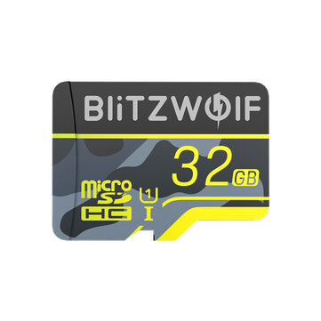 BlitzWolf®BW-TF3 Memory Card with Adapter C10 U3 Micro SD Card 64GB Smart Card TF Card 32/64/128/256GB for Camera UAV Recorder