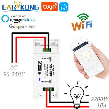 EARYKONG WiFi Switch Smart Universal Breaker Timer Remote Control Compatible With Smart Life Alexa Google Home Tuya Smart APP