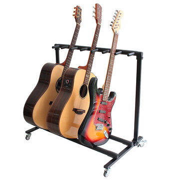 Flanger Mobile Guitar Rack Holds Up To More Than 3 Guitars Guitar Stand for Electric Guitar or Acoustic Guitar or BASS