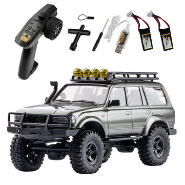 Eachine FMS 1_18 2.4G Land Cruiser 80 For TOYOTA Partly Waterproof Crawler Off Road RC Car Vehicle Models RTR Remote Control Car Two Battery