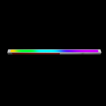 35CM 3PIN 5V RGB Aluminium Alloy LED Rigid Strip Light AURA Effect For ASUS ASRoI Gigabyte