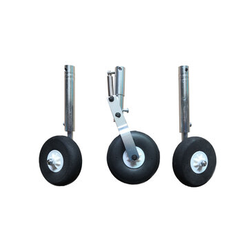 Aluminum Alloy Shock Absorber Retractable Landing Gear Set for RC Airplane