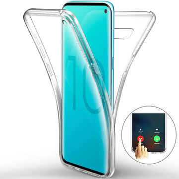 Full Body Clear Touch Screen Protective Case For Samsung Galaxy S10e/S10/S10 Plus Support Ultrasonic Fingerprint Unlock