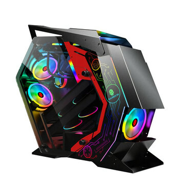 ATX Computer Gaming Case Special Shaped Desktop Computer Mainframe Support M ATX or ITX Motherboard for PC Gamer Enclosure