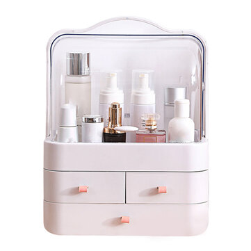 Buy Transparent Cosmetic Organizer Creatives Makeup Storage Box Protable Desktop Organizer Drawer Storage Bins Waterproof Beauty Box with 6 on Gipsybee.com