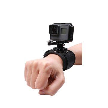 Hand Strap 360 Degree Panoramic Camera Mount Black Wrist Strap For Gopro Hero 8 7 6 3 4 Xiaomi SJCAM EKEN Action Cameras Accessories