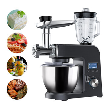 BlitzWolf® BW_VB1 Stand Mixer ,1500W 8 Speed Tilt_Head Kitchen Food Mixer with 5.5L Stainless Steel Bowl,Dough Hook,Meat Grinder,Whisk,Juice Stirring,Egg_beater