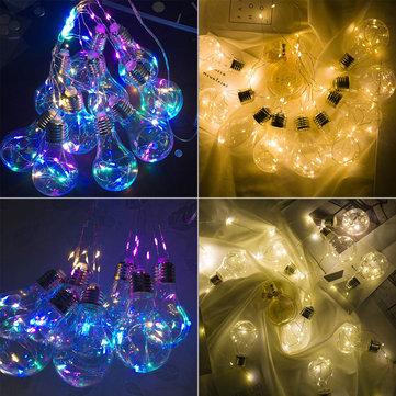 10 נורות אור תליון LED מחרוזת אור Firefly צד חתונה בית קישוט רומנטית