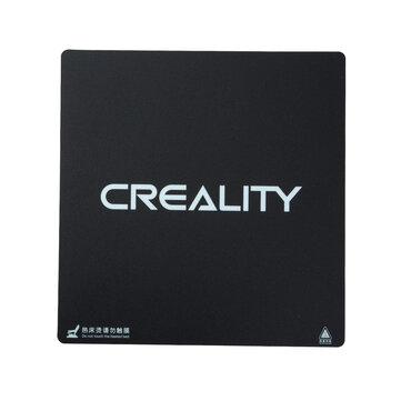 Creality 3D® 235 * 235 * 1 mm - Nouveau logo - lit chauffant givré autocollant de plate-forme de lit chauffant avec support 3M pour partie d'imprimante 3D