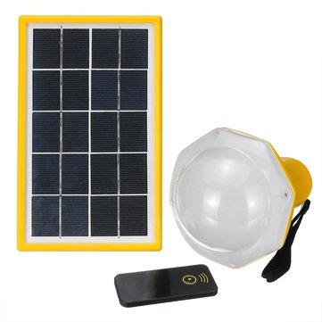 200LM सौर पैनल बल्ब पावर 5 मोड डीसी प्रकाश प्रणाली रिमोट कंट्रोल आउटडोर कैम्पिंग के साथ आपातकालीन