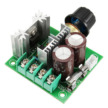DC 12V-40V 10A 13Khz Motor Speed Controller Pump PWM Stepless Speed Change Speed Control Switch Large Torque 50V 1000uF Large Capacitor IRF3205 Power Tube With Over-Voltage Protection Function