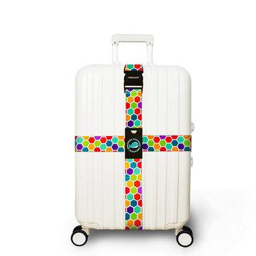"""Honana रंगीन क्रॉस सामान पट्टा सूटकेस बेल्ट यात्रा टैग सहायक उपकरण फिट """"20"""" ~ 32 """"सूटकेस के लिए फिट"""