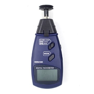 SM6236E Portable Photo Tachometer Non-contact Surface Speed Meter Digital Tachometer Data Hold