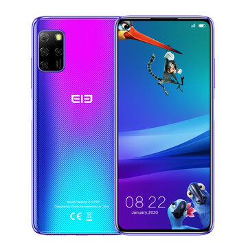 ELEPHONE E10 Pro Global Version 6.55 inch Punch-hole Screen NFC Android 10.0 4000mAh 48MP Quad Rear Camera 4GB 128GB MT6762D 4G Smartphone