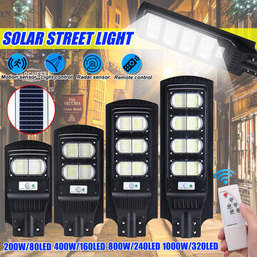 Solar Power 80/160/240/320LED Street Light Infrared Motion Sensor Outdoor Wall Lamp