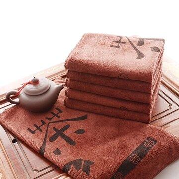 Fibra extrafina de la toalla de té de absorción de agua estupendo accessaries té té toalla kungfu