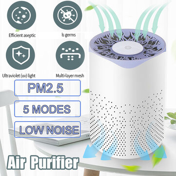 Mini UV Sterilization Air Purifier USB Charging Low Noise Removal of Formaldehyde PM2 5 for Home Office Car for sale in Litecoin with Fast and Free Shipping on Gipsybee.com