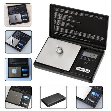 200g x 0.01g Mini Precision Digital Scale Kitchen Food Reloading Powder Grain Jewelry Carat Black