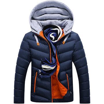 Áo khoác nam mùa đông dày trùm đầu khâu thời trang