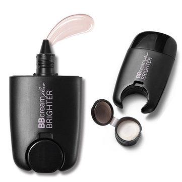 2 In 1 BB Cream Concealer Liquid Highlight Täckning Vattentät Makeup Foundation