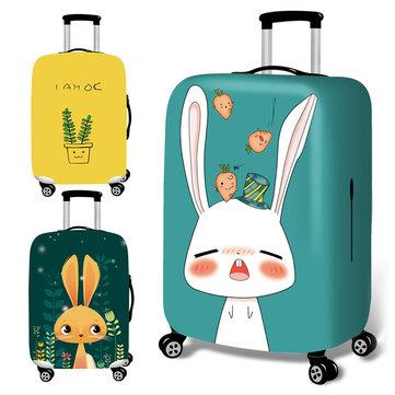 Honana प्यारा कार्टून खरगोश लोचदार सामान कवर ट्रॉली केस कवर टिकाऊ सूटकेस रक्षक 18-32 इंच केस गर्म यात्र