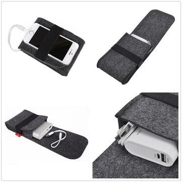Porta USB per mouse Power Bank Accessori digitali Portaoggetti in feltro